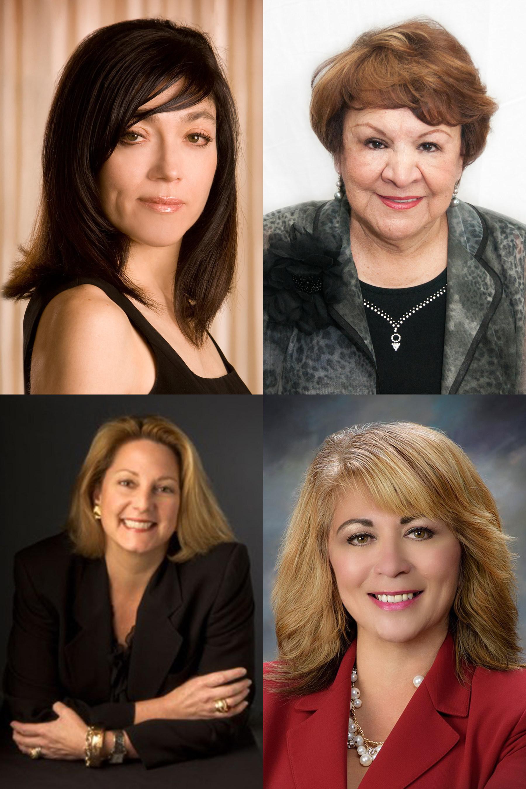 Top row, from left to right: Suzana Kubota, Pauline Martinez; Bottom row, from left to right, Anne Hensen, Hilda Ramirez