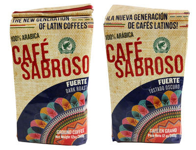 Cafe Sabroso packaging is designed so that it can be read in both English and Spanish. (PRNewsFoto/Mayorga Coffee)