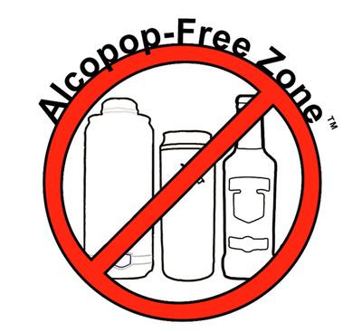 Alcopop-Free Zone(TM) Logo.  (PRNewsFoto/Alcohol Justice)