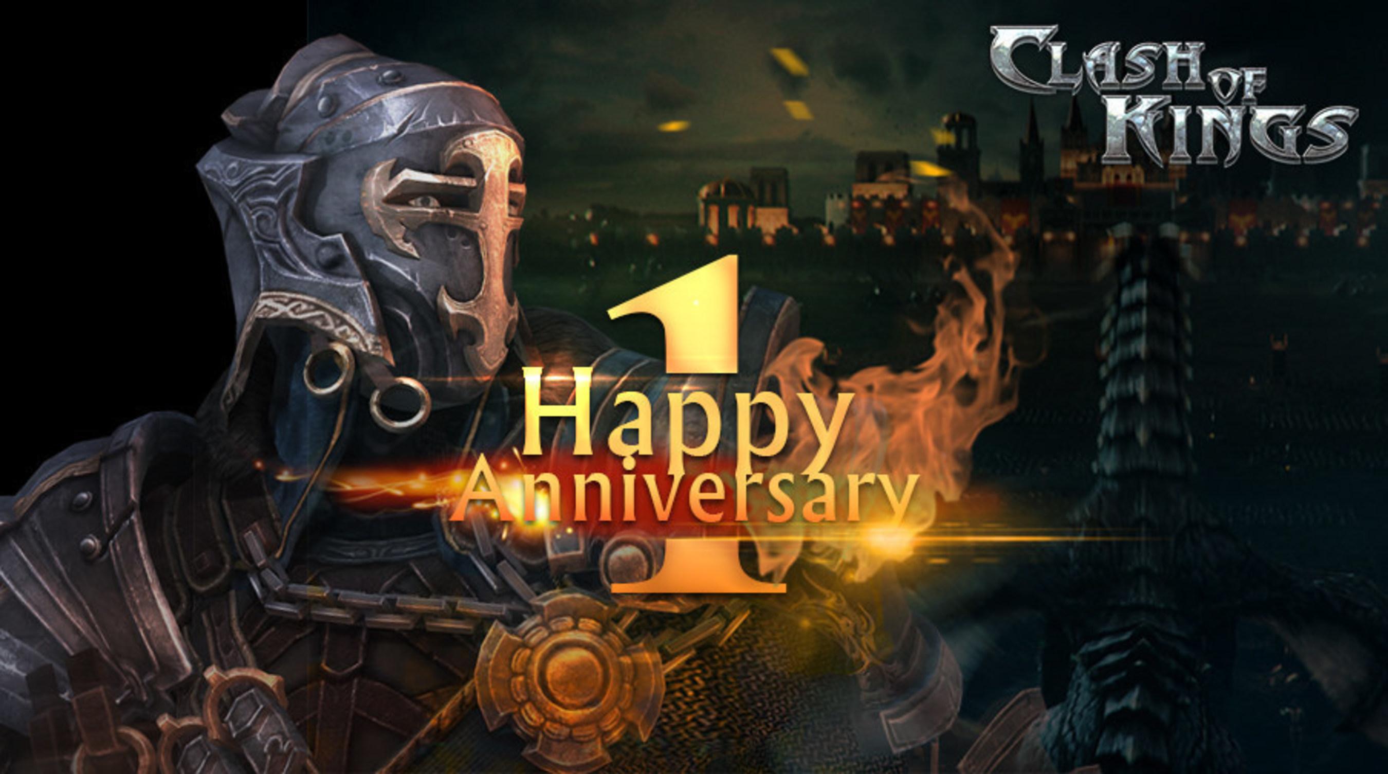 Fait marquant du 1er anniversaire de Clash of Kings : 60 millions de téléchargements et de joueurs