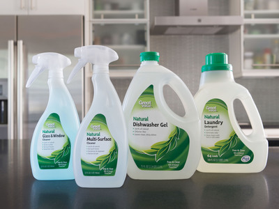 Agaia, Inc. has partnered with Walmart to introduce Evolve, the new patented green cleaning technology empowering Walmart's Great Value Natural products.  (PRNewsFoto/Agaia, Inc.)