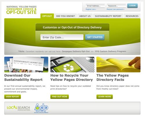 www.yellowpagesoptout.com.  (PRNewsFoto/Local Search Association)