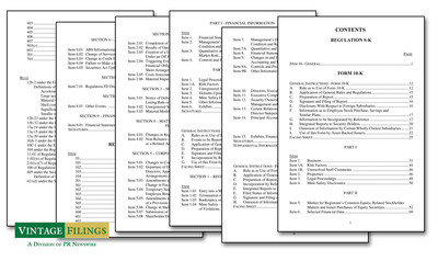 Vintage Filings Free Guidebook Helps Law Firms and Public Companies Navigate 10-K, 10-Q & 8-K Reporting Rules.  (PRNewsFoto/PR Newswire Association LLC)