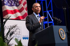 President Barack Obama addresses delegates at the National League of Cities Congressional City Conference March 9, 2015 in Washington. Photo credit: Jason Dixson
