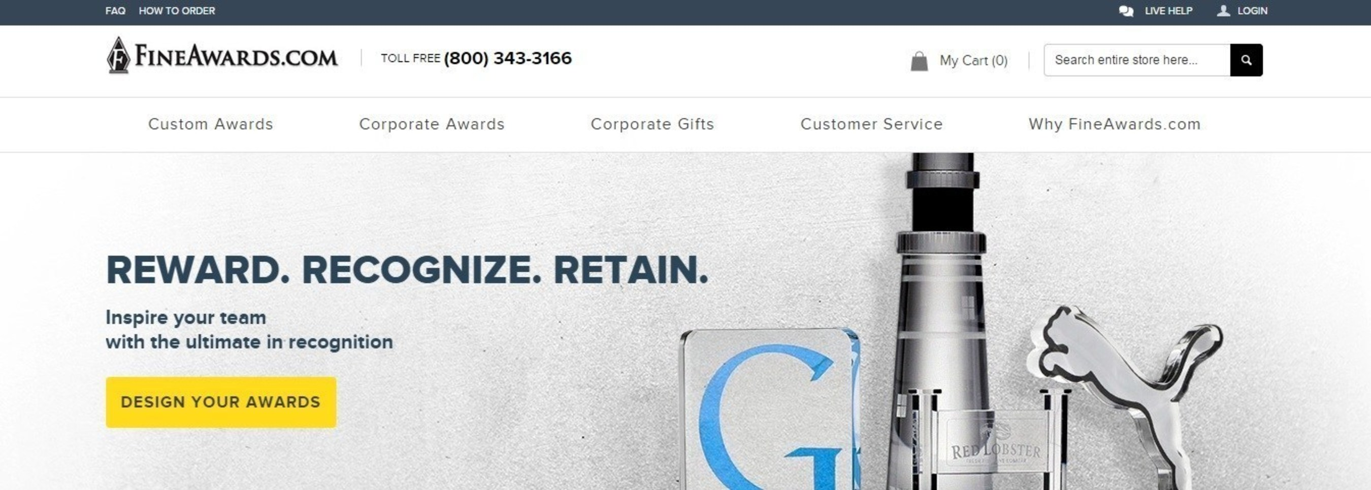 FineAwards.com Launches New Custom Awards Website