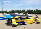 IBM Research today announced that it is providing advanced solar forecasting technology to help the University of Michigan (UM) team power its solar car in the Bridgestone World Solar Challenge, an 1,800-mile (3,000-kilometer) race across the Australian Outback. The UM student team will leverage IBM Research's cognitive computing expertise to gain real-time insights into conditions such as cloud cover and wind patterns as well as determine how much solar power will be available to fuel their car along the course race.  As the car is solely powered by solar energy, more accurate forecasts can help the UM students decide how to drive their car more efficiently and improve their chances for winning. Pictured, the University of Michigan team preps their solar car Aurum.