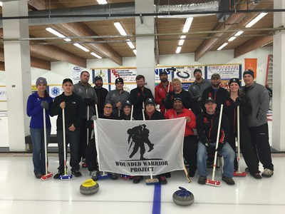 Wounded Warrior Project brought injured veterans to the Fairbanks Curling Club.