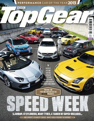 August 2013 Top Gear cover