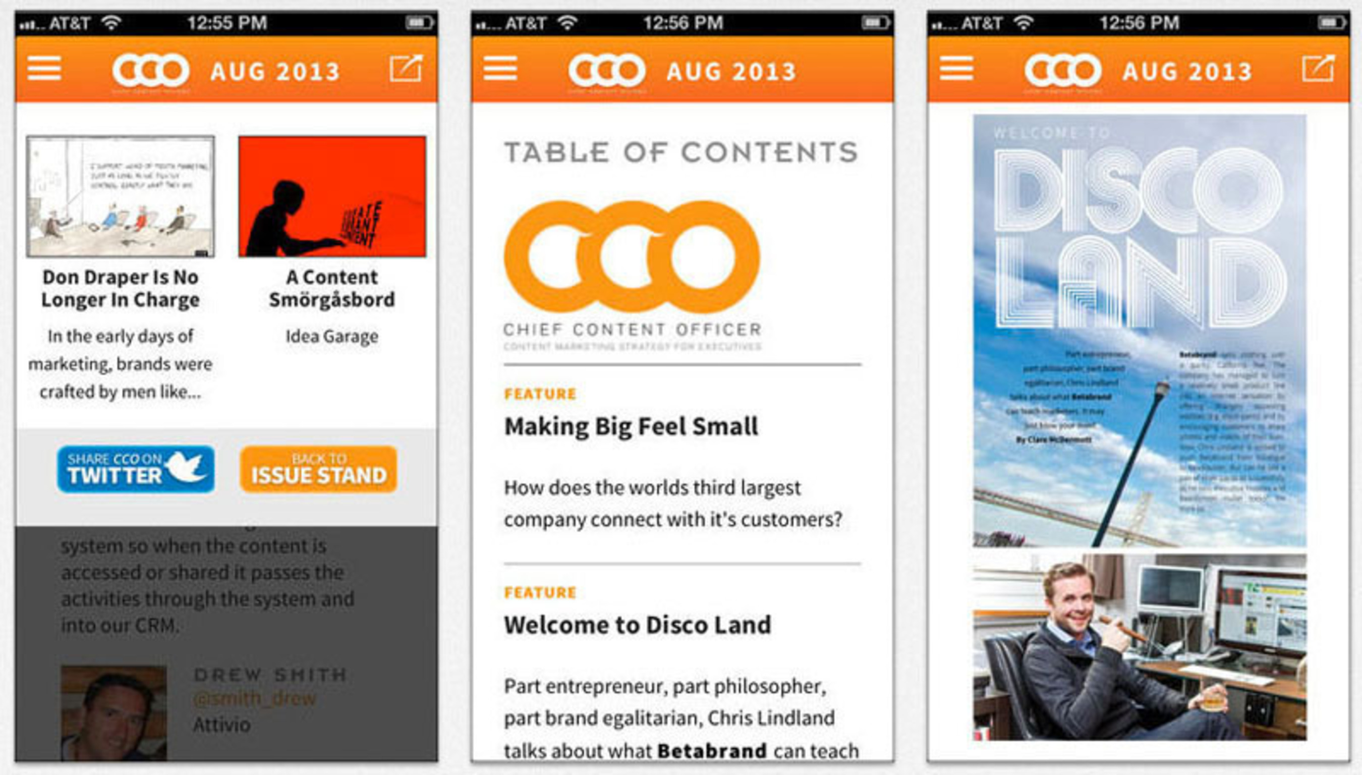 Chief Content Officer Magazine releases iOS app.  (PRNewsFoto/Content Marketing Institute)