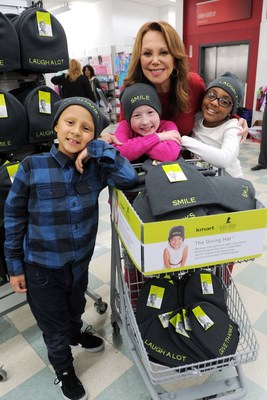 Kmart shoppers rallied together last holiday season to support the St. Jude Children's Research Hospital(R) Thanks and Giving(R) campaign. The introduction of The Giving Hat(TM) - modeled here by St. Jude  National Outreach Director Marlo Thomas and St. Jude patients at a New York Kmart last year - contributed to an extraordinary $16.1 million in total donations by Kmart members, associates and customers in 2015. Since 2006, Kmart has raised more than $92.8 million for St. Jude.