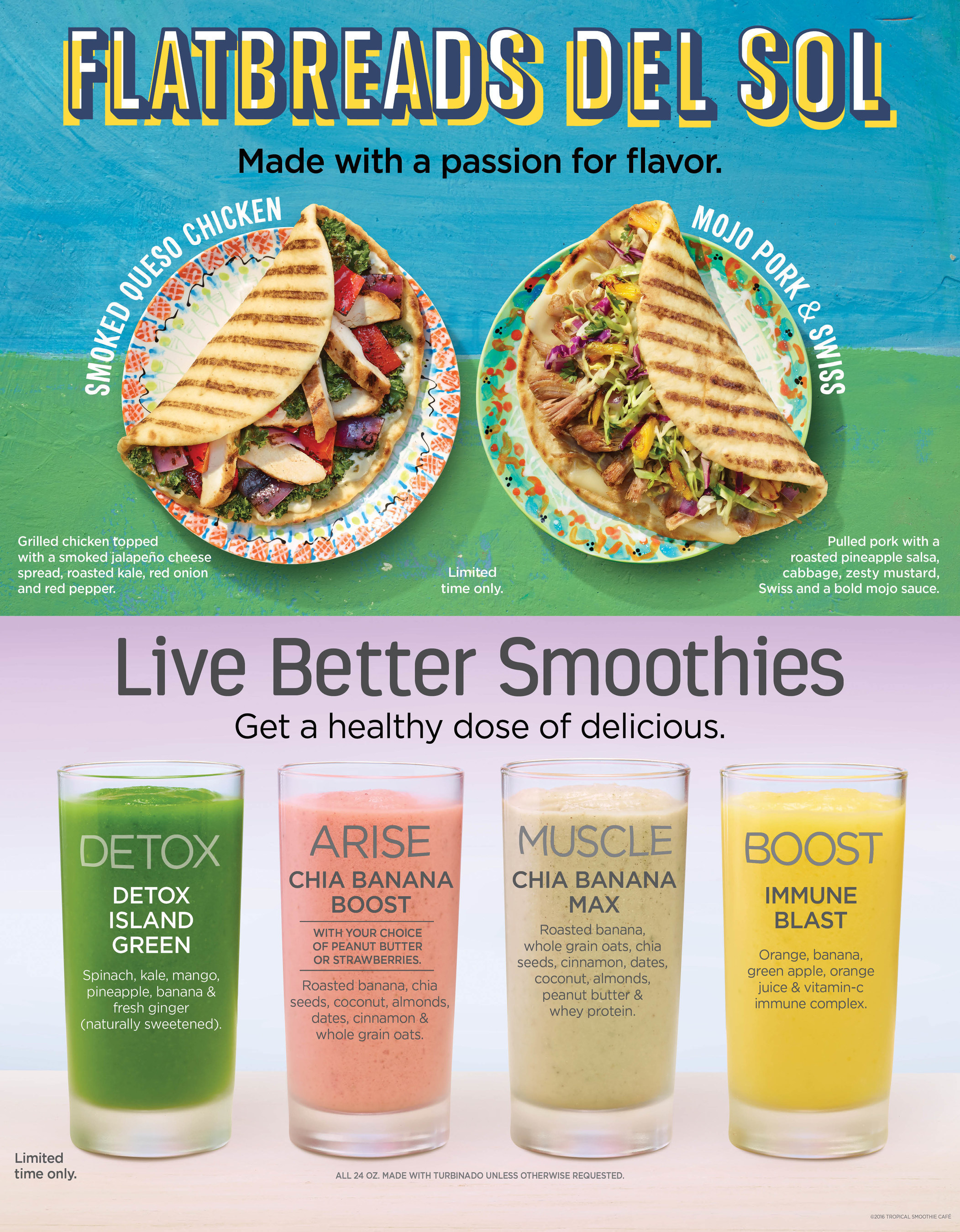 Tropical Smoothie Cafe Offers Guests a Variety of New Options In The New Year