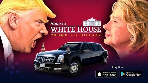Race to the White House Game (PRNewsFoto/Games2Win India Pvt. Ltd.)