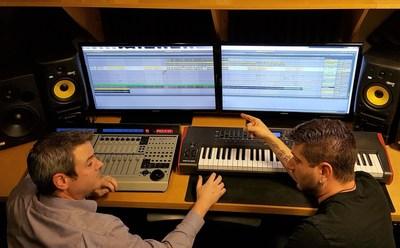 Binary Hertz in their studio in Southern California