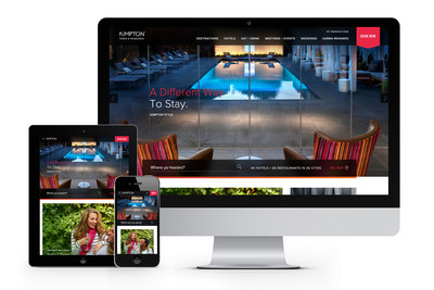 KH.com on Devices (PRNewsFoto/Kimpton Hotels & Restaurants)
