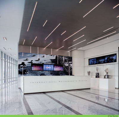 International Motorsports Center Receives LEED Gold Certification Award from the U.S. Green Building Council - Main Lobby of the International Motorsports Center - World Headquarters Building for NASCAR, GRAND-AM and International Speedway Corporation.