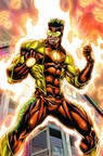 Appearing alongside Marvel's popular Avengers Assemble characters in a series of custom comic books, Captain Citrus battles villains while helping to convey the values of the Florida citrus industry and the importance of making smart choices about nutrition. (PRNewsFoto/Florida Department of Citrus)