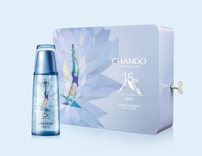 Chando 15th Anniversary Edition of their Glacier Water product