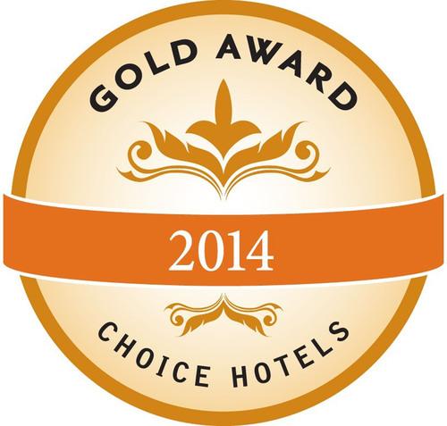 Choice Hotels International 2014 Gold Hospitality Award.  (PRNewsFoto/Choice Hotels International, Inc.)