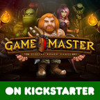 Game Master is the first of it's kind Online Tabletop Multiverse that is inhabited and created by the players themselves. It is a singular community driven experience unlike any other. Players take the roles of brave Heroes and devious Masters battling it out against each other for Gold and Glory as the world around them evolves and grows. Don't just play the game. Master it! Support us on Kickstarter (PRNewsFoto/K-Gaming Ltd.)