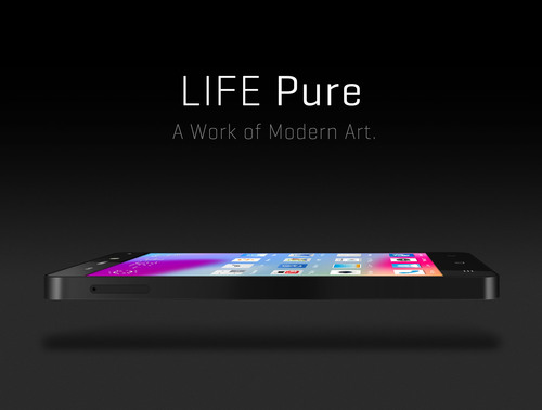 BLU Products introduces LIFE PURE smartphone device, featuring Stunning Design with Flagship Performance. (PRNewsFoto/BLU Products)