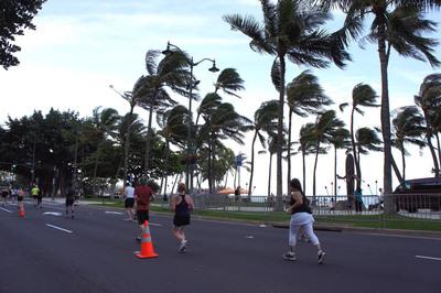 Runners in the Honolulu Rainbow Ekiden will enjoy the sights of beautiful Waikiki Beach in this first-ever marathon style relay race in Honolulu.  (PRNewsFoto/Honolulu Festival)