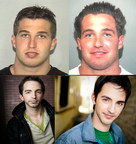 Felon Twins Chris & Jeff George (Top); Twin Actors Alex & Nathan Burkart Who will play them in the film Prescription For Death (Bottom)