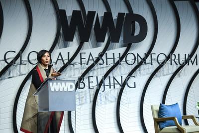 Jiang Qiong Er of Shang Xia at the Women's Wear Daily Global Fashion Forum in Beijing