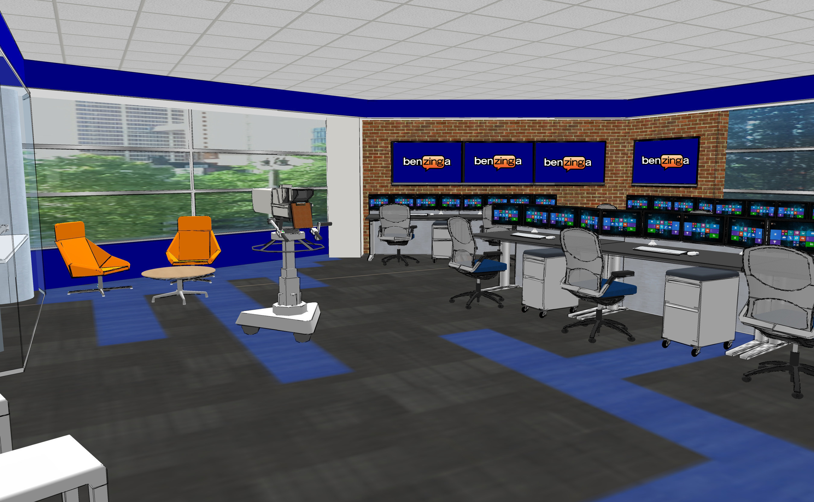 Benzinga's rendering of its new One Campus Martius office in downtown Detroit.