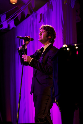 Josh Groban performs at Happy Hearts Fund Land of Dreams: Haiti gala on Nov. 5, 2011 in New York City.  ...