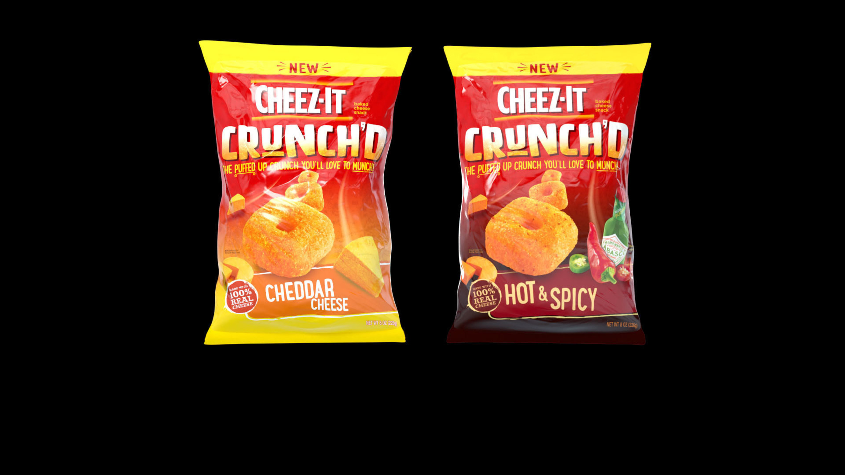 Cheez-It is making its first ever appearance in the chip aisle by introducing Cheez-It Crunch'd, its first ever cheesy puff. Crunch'd is offered in two wickedly delicious flavors, including Cheddar Cheese and Hot & Spicy.