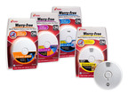 Kidde's Worry-Free alarms are the first UL-listed comprehensive line of smoke, carbon monoxide (CO) and combination alarms containing a sealed, lithium battery that lasts 10 years. Available in battery-only and hardwired with battery backup power options, the Worry-Free alarms offer a decade of protection without having to replace a battery or hear a low-battery chirp. Photography by Steve Exum of Exum Photo on September 6, 2012.