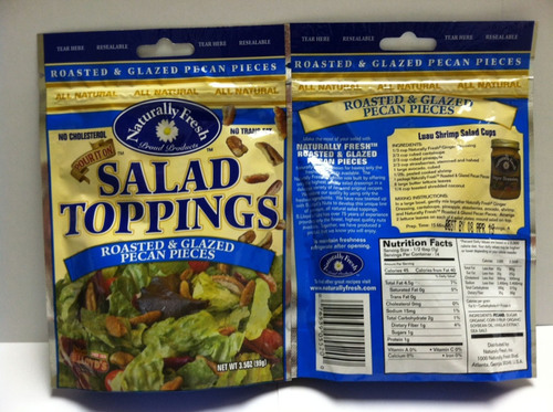 Bay Valley Foods Issues A Voluntary Recall of Naturally Fresh® Roasted & Glazed Pecan Pieces Salad