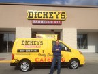 Mina Rizk outside the first Dickey's Barbecue Pit in Lexington. Grand opening kicks off Thursday with big barbecue giveaways. (PRNewsFoto/Dickey's Barbecue)