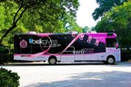 The Belk Mobile Mammography Center (BMMC) features the new Ralph Lauren sneaker, which was created as part of the recently announced partnership. The BMMC provides screening mammograms to women across the Southeast with clinical services provided by Charlotte Radiology. (PRNewsFoto/Belk, Inc.)