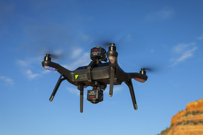 KODAK PIXPRO SP360 4K VR Cameras mounted on the 3DR SOLO Drone with a SOLO Drone Dual Camera Mount