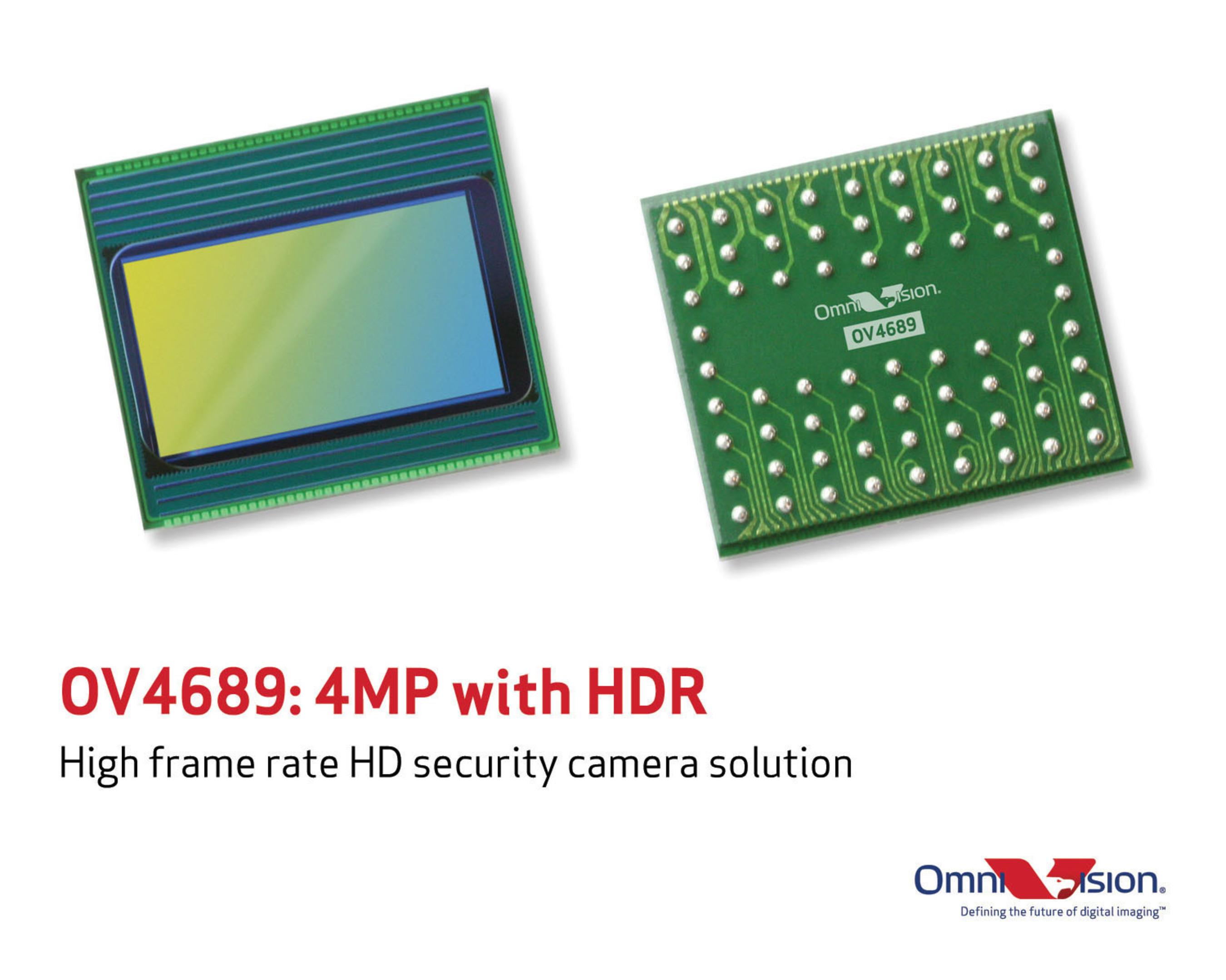 OV4689: High frame rate HD security camera solution. (PRNewsFoto/OmniVision Technologies, Inc.) ...
