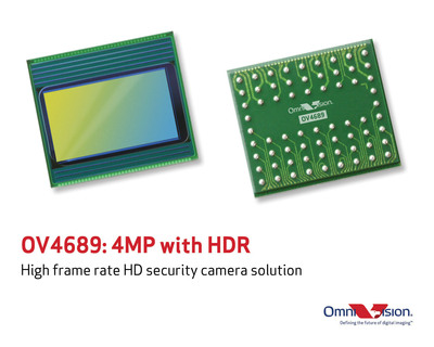 OV4689: High frame rate HD security camera solution. (PRNewsFoto/OmniVision Technologies, Inc.) (PRNewsFoto/OMNIVISION TECHNOLOGIES, INC.)
