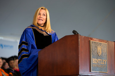 Keynote speaker Karen Kaplan, chairman and CEO of Hill Holliday advertising agency, challenged graduates at Bentley University's 97th annual undergraduate commencement ceremony to be the CEO of every job they hold -- no matter the position. Approximately 8,000 people attended the ceremony held on May 21, 2016.