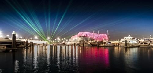 Laser show at Yas Marina Circuit during F1 (PRNewsFoto/Yas Marina Circuit)