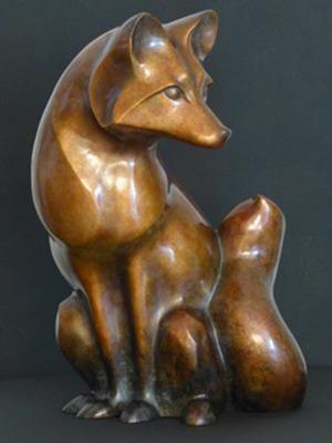 Winter Fox in bronze. (PRNewsFoto/Stewart Jones Designs) (PRNewsFoto/STEWART JONES DESIGNS)