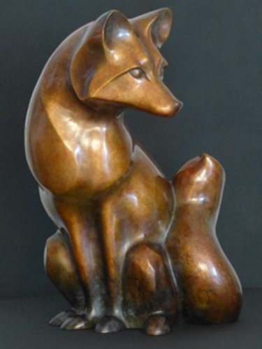 Winter Fox in bronze.  (PRNewsFoto/Stewart Jones Designs)