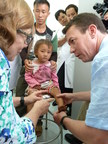 AOFAS volunteers Naomi Shields, MD (left) and Robert Mihalich, MD, at Lao Cai Hospital in Lao Cai, Vietnam.