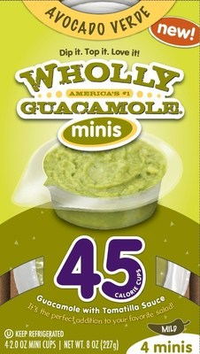 Wholly Guacamole Avocado Verde 45 cal Minis