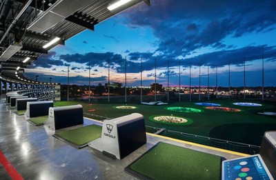 Topgolf tee line and outfield in the United States