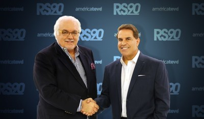 Carlos Vasallo, President and CEO of LCA Network, welcomes journalist Rick Sanchez
