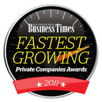 San Francisco Business Times Fastest Growing Private Companies.  (PRNewsFoto/Bizo)
