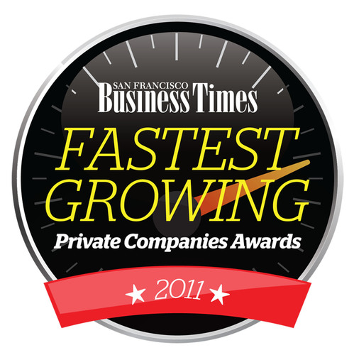 San Francisco Business Times Fastest Growing Private Companies.  (PRNewsFoto/Bizo)