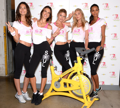 VICTORIA'S SECRET ANGELS GEAR UP FOR A SUPERMODEL CYCLE RIDE TO BENEFIT CANCER RESEARCH (PRNewsFoto/Victoria's Secret)