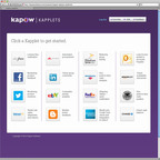 Kapow Kapplets(TM) turn unstructured data sprawl into actionable intelligence without data warehouses, data mining, manual coding or costly consultants.  (PRNewsFoto/Kapow Software)