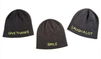 The Giving Hat™ is a stylish winter knit hat, one-size-fits-all and available in three versions embroidered with messages inspired by St. Jude patients and their families:
